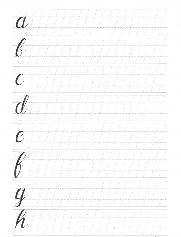 Brush Lettering Grundkurs S3 abc1