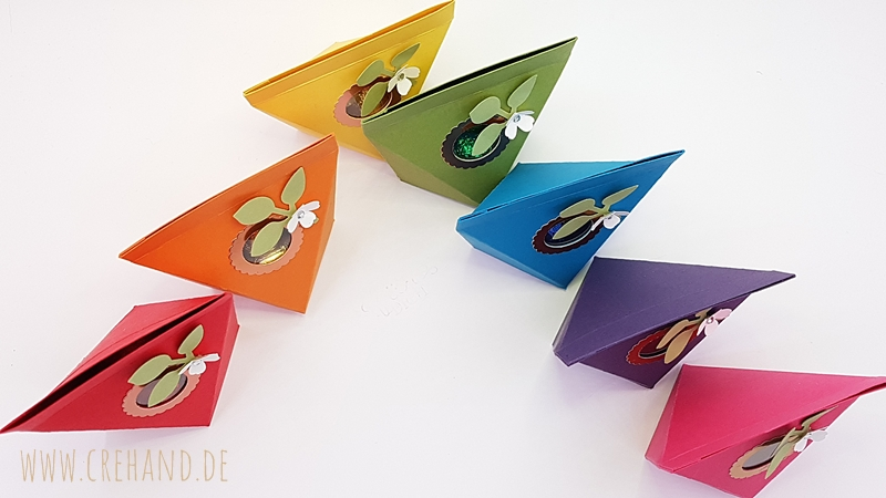 Selbstschließende Verpackung in Regenbogenfarben